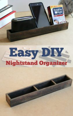 Easy and Cheap DIY Nightstand Organizer