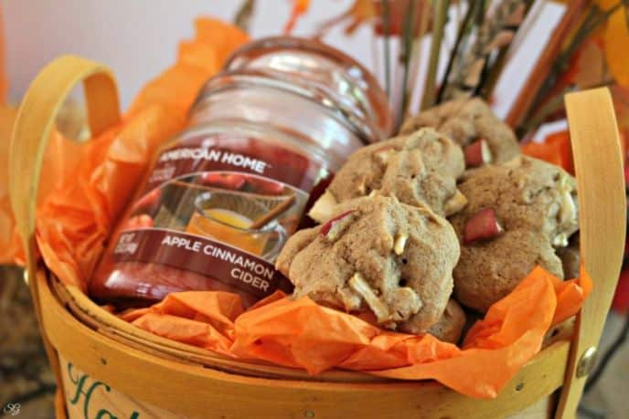 Autumn Cookies and Candle Basket