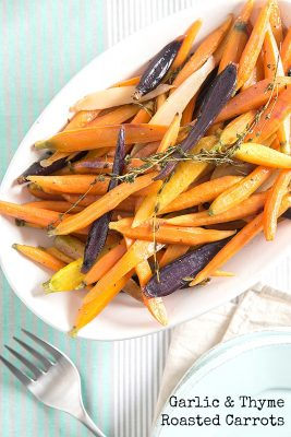 Garlic and Thyme Roasted Carrots Side Dish