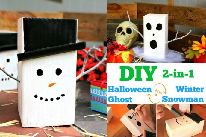2-in-1 Halloween and Winter Craft Decor