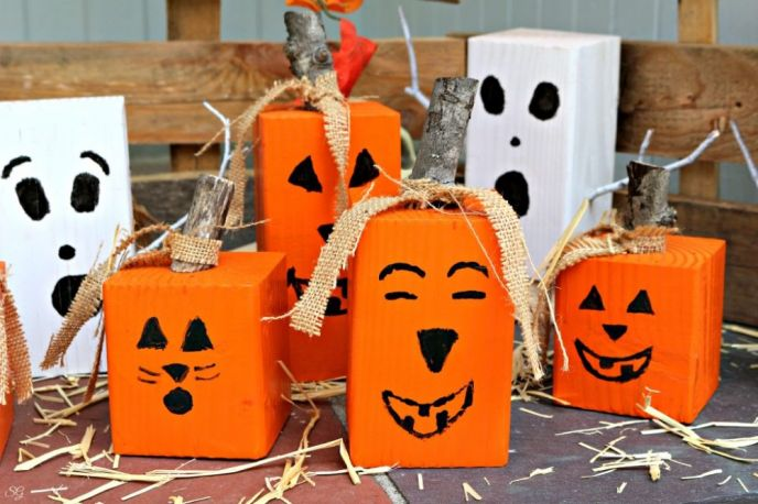 How To Make Wood Pumpkin Jack O' Lanterns