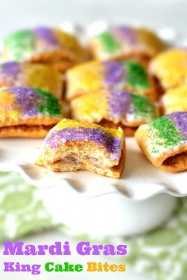 King Cake Bites Recipe for Mardi Gras