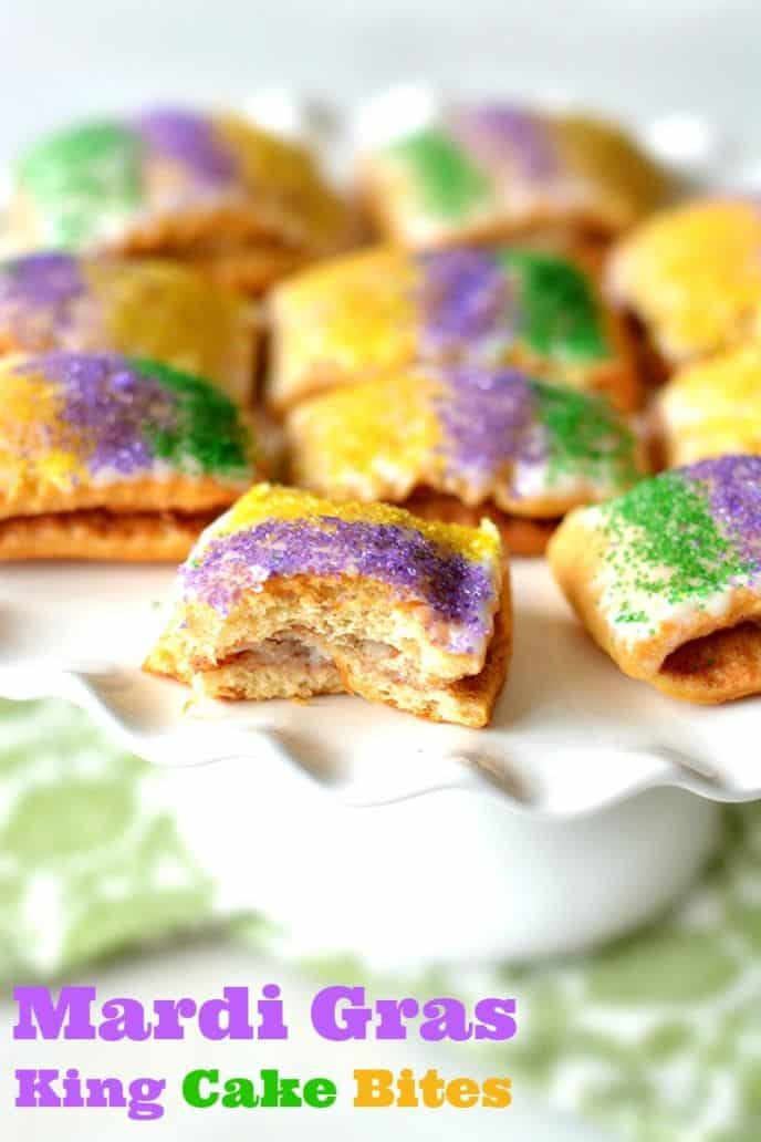 King cake bites mardi gras desserts king cake bites recipe for mardi gras check out this easy and fun mardi gras forumfinder Image collections