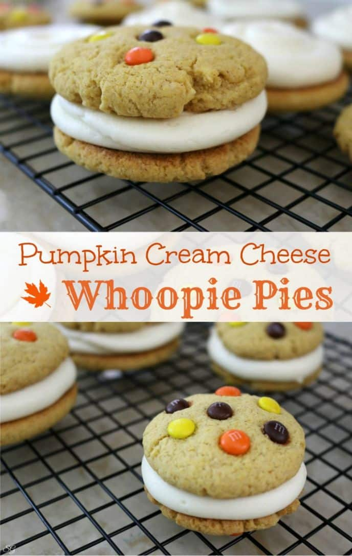 Pumpkin whoopie pies with cream cheese filling. Learn how to make ...