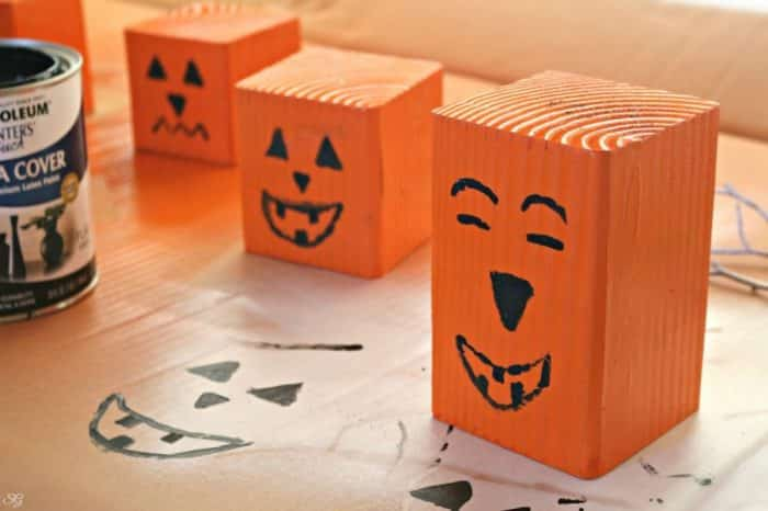 Jack O' Lantern Wood Craft Project
