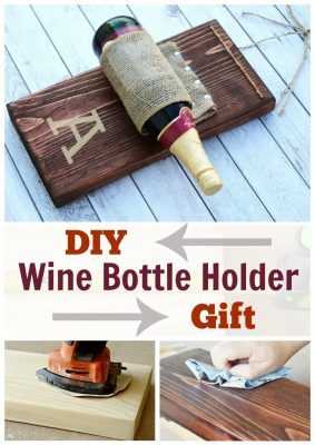 Learn how to build an EASY wine bottle holder gift. Click to build this EASY wine bottle holder!