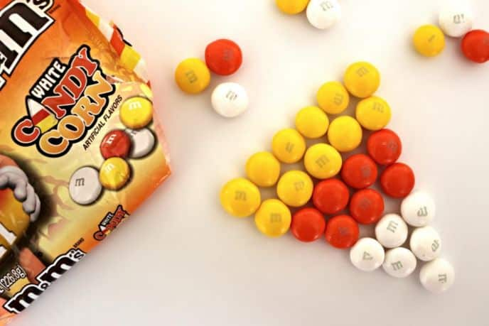 Candy Corn M&M's White Chocolate Candies