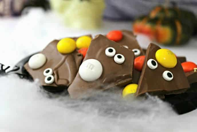 M&M's® Candy Corn Halloween Bark