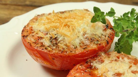Easy Christmas Parmesan Tomatoes