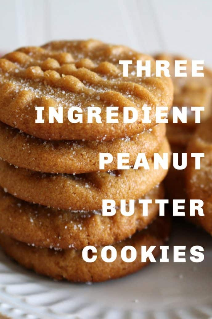 Peanut butter cookies 3 ingredient recipe