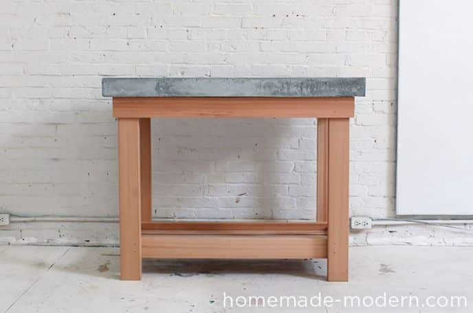 DIY Concrete Top Kitchen Island