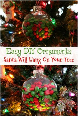 DIY M&M's Christmas Ornament