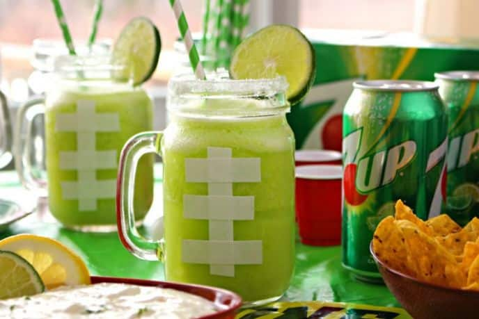 7UP Game Day Margarita Recipe and 7UP Party Dip Recipe