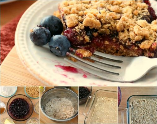 Blueberry Crumb Bar Ingredients and Recipe