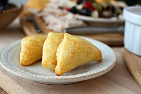 Crescent Roll Ham and Cheese Dipper Sandwiches