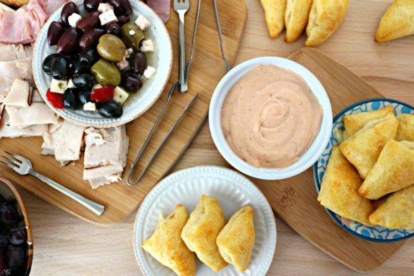Ham and Cheese Dippers with Antipasto Board
