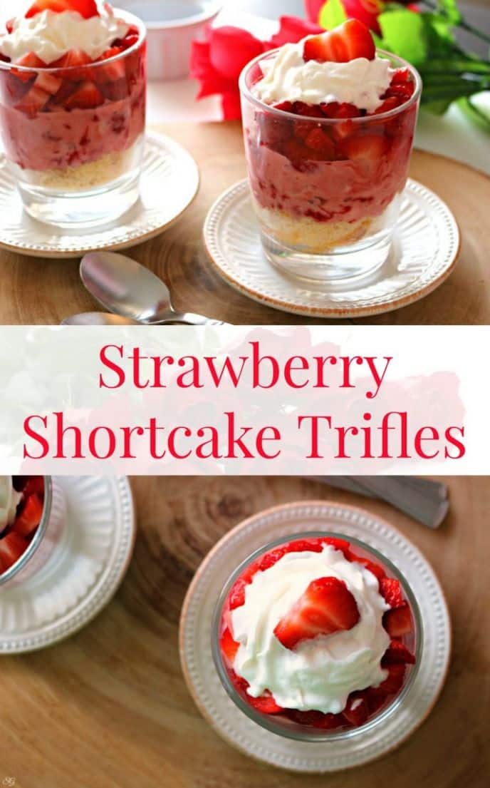 Strawberry Shortcake Trifles! Hey guys! This EASY strawberry shortcake trifle recipe will melt her heart of Valentine's Day! See how easy it is to make these trifles!