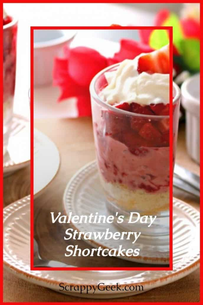 Trifle recipe dessert for Valentine's day with strawberries and cream.