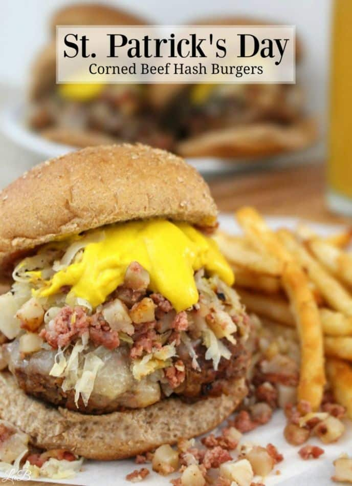 Easy corned beef hash burger recipe. Get this easy hamburger hash recipe loaded with corned beef hash and sauerkraut now! #stpatricksday #stpaddysday #stpattysday #cornedbeef #hash #cornedbeefhash #burger #hamburger #burgers #delish #yum #recipe #easyrecipes #recipes #foodrecipes #burgerrecipes #deliciousrecipes #cooking #holidays #yum #nomnom