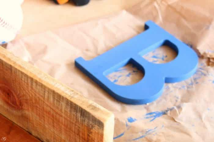 Baseball Hat Rack Decoration Letter B
