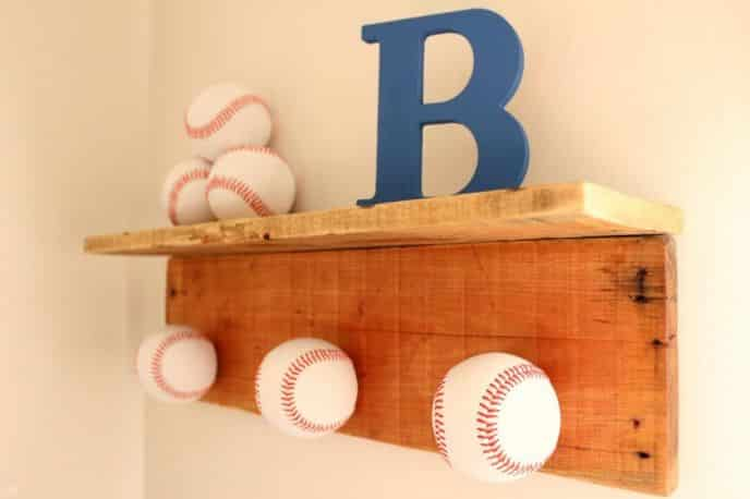 Baseball Hat Rack DIY Project