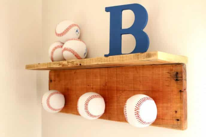 Baseball Cap Hat Rack DIY