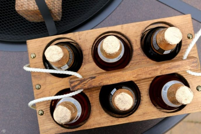 Wood Beer Holder