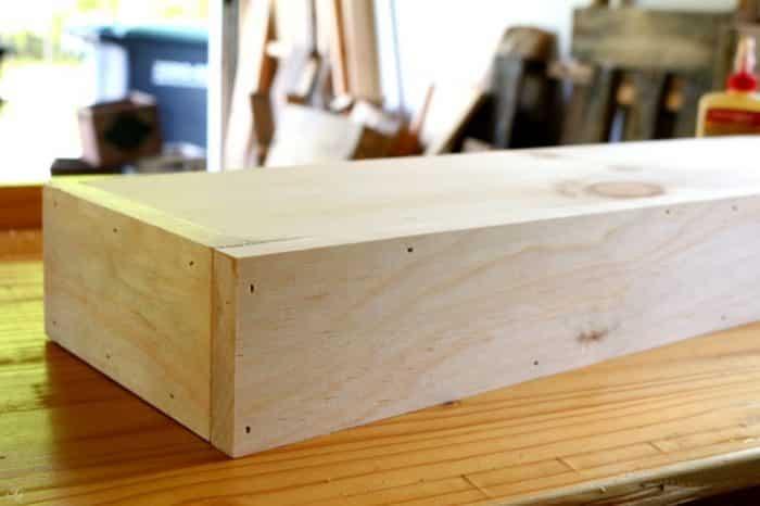 Assembling a floating shelf
