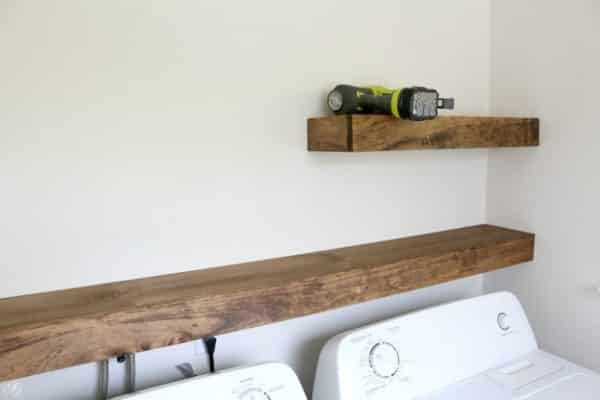 Installing DIY floating shelves