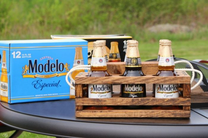 Beer Caddy DIY and Modelo Bottled Beer