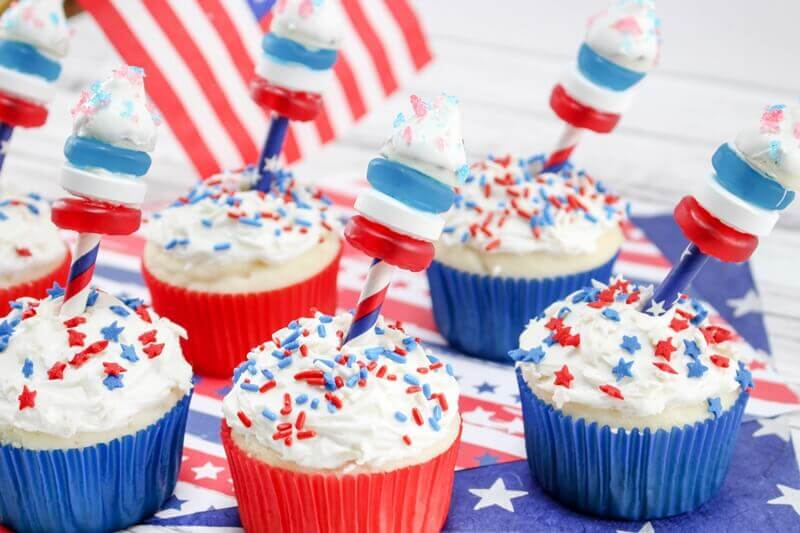 4th of July Firework Cupcakes