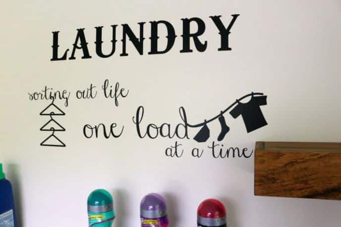 Laundry room sign: Laundry, Sorting Life Out One Load At A Time