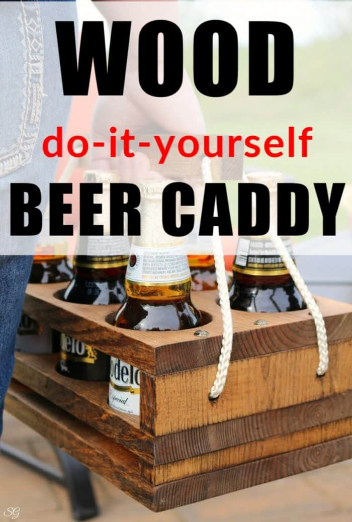 Beer Caddy - Wooden DIY Beer Caddy Plans To Make For A Gift or For Yourself