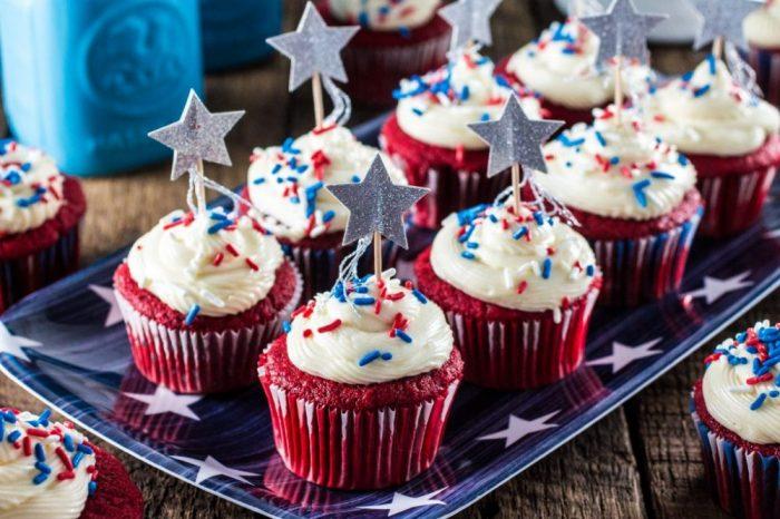 Red Velvet Patriotic Cupcakes
