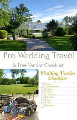 Free Wedding Vendor Checklist! See where our pre-wedding road trips take us and print your free wedding vendor checklist! Stay organized, calm, collected and stay stress free while planning your wedding day!