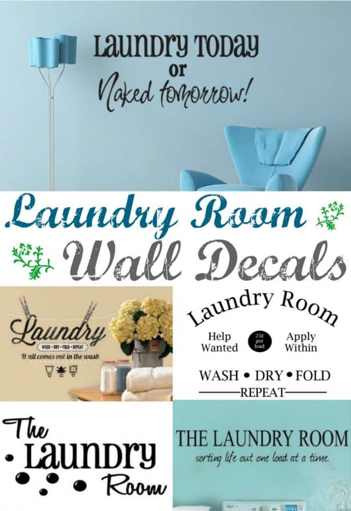 Laundry Room Vinyl Wall Decal Quotes. Spruce up your laundry room with a fresh wall decal! Laundry today or Naked Tomorrow - that's just a sample....