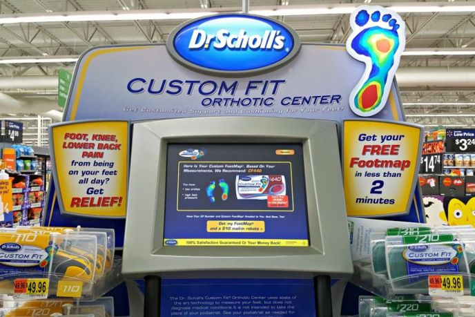 Kiosk for Dr. Scholl's at Walmart