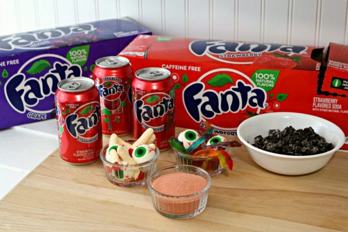 Halloween Jello made with Fanta