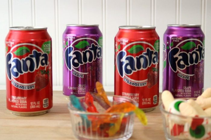 Fanta Soda for making Halloween jello