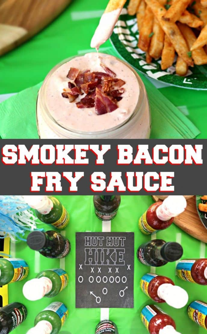 EASY Smokey Bacon Fry Sauce Recipe! Check out this bacon loaded french fry sauce recipe you can make with just a few ingredients! #KingOfFlavor #FieldToBottle