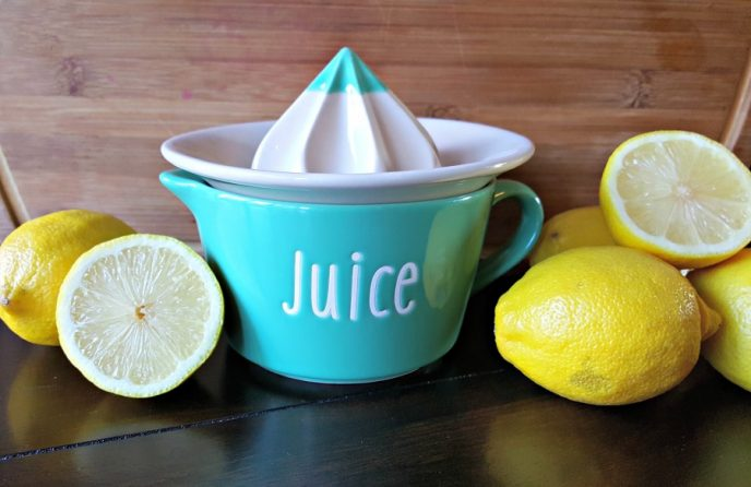 Lemon juicer on counter