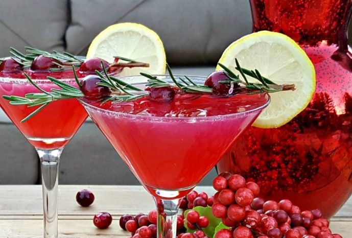New Year's Eve Drink Recipe. A cranberry and lemon drop drink recipe.
