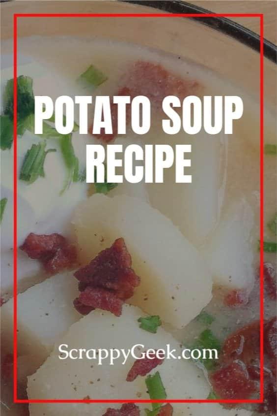 Potato soup in a glass bowl