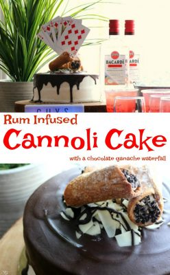 Rum Infused Cannoli Cake