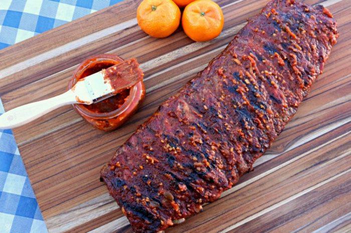 Orange ribs BBQ sauce