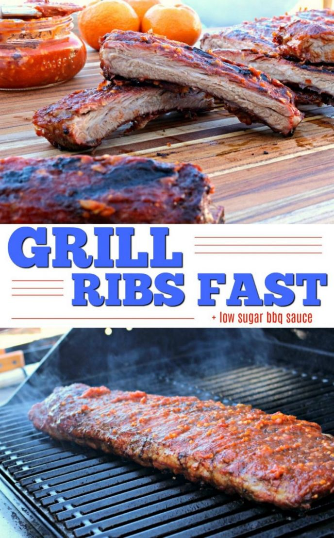 Sugar Free Orange Bbq Sauce And Grilled Ribs