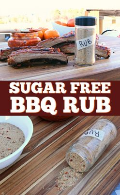 Sugar free BBQ dry rub for ribs and pork