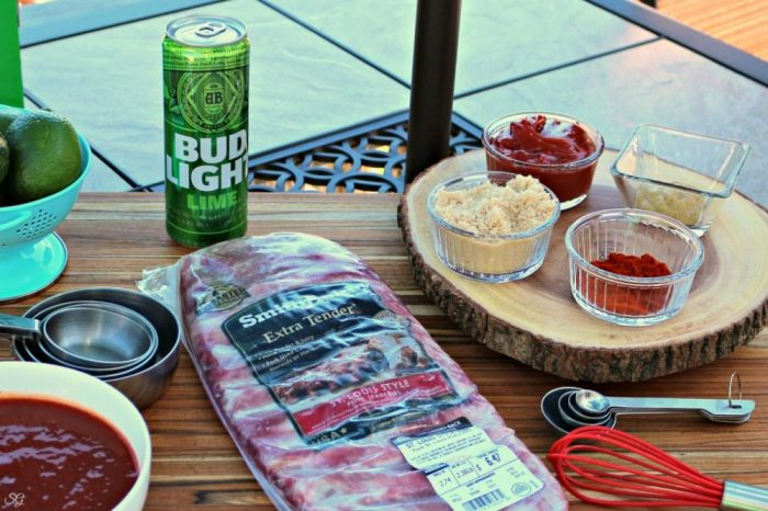 Bud Light Lime BBQ Sauce Pork Ribs Grilling Recipe