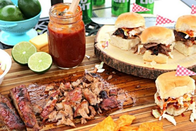 Bud Light Lime BBQ Ribs Sliders