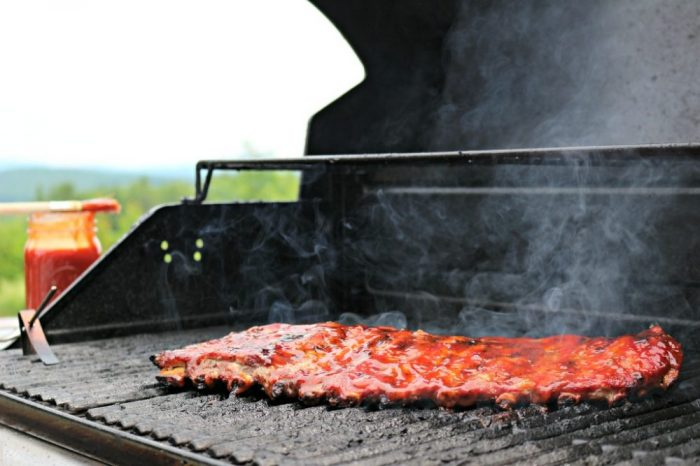 Grilling St. Louis Style Ribs on Gas Grill